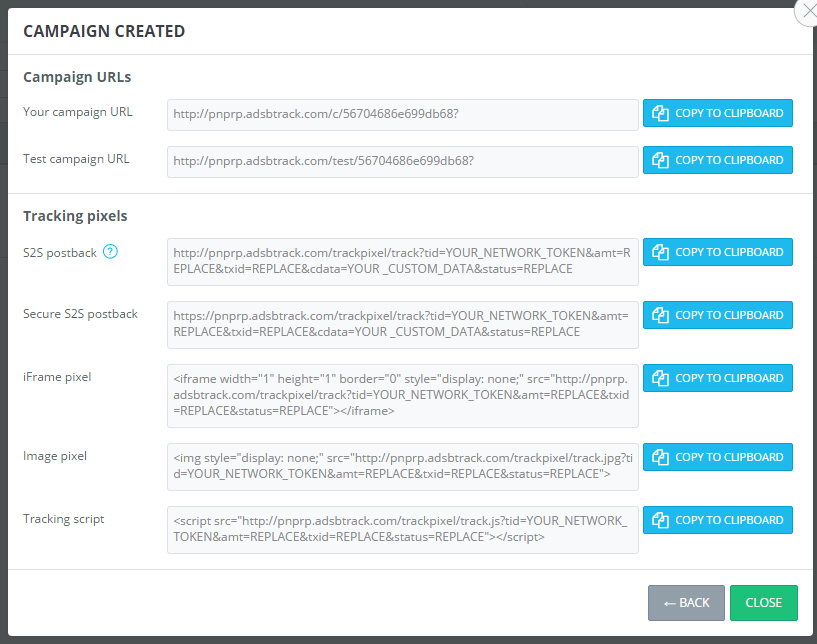 AdsBridge URL Tracking