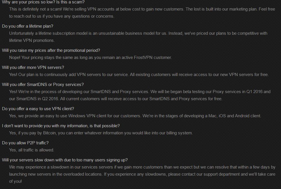 FrostVPN FAQ