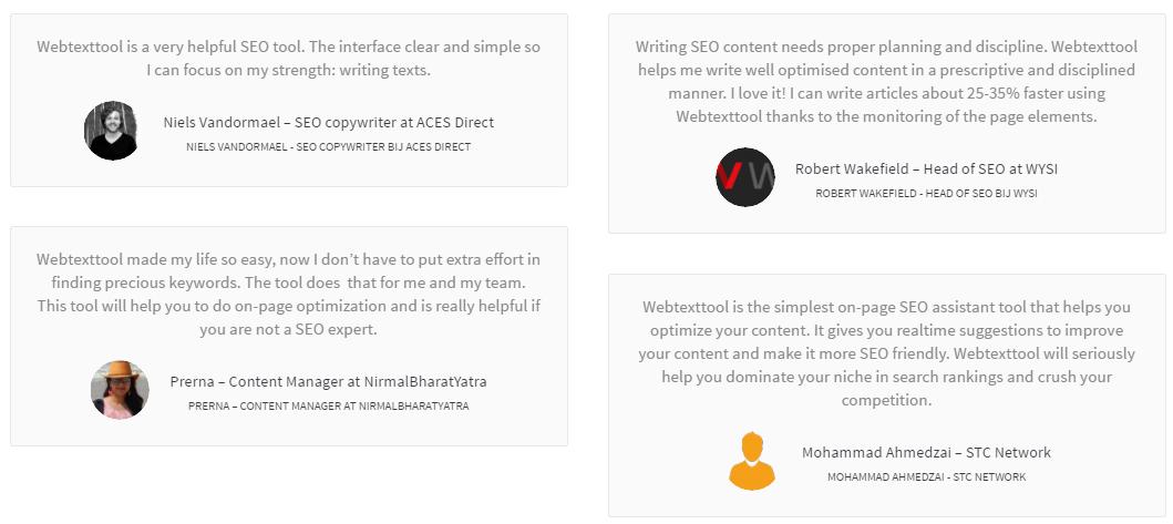 WebTextTool feedback