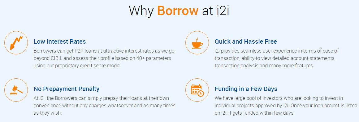 Why should one borrow at I2I?